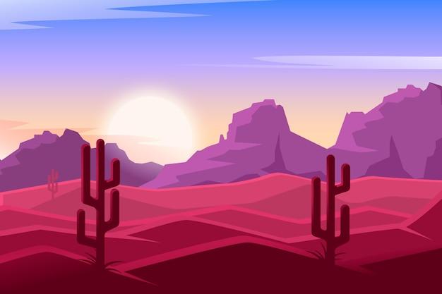 Desenho do fundo da paisagem do deserto