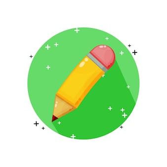 Desenho do ícone de lápis isolado no branco