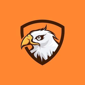 Desenho do logotipo da águia mascote da cabeça, ilustração da águia, ícone da águia