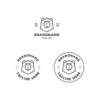 Desenho do logotipo da cabeça do urso
