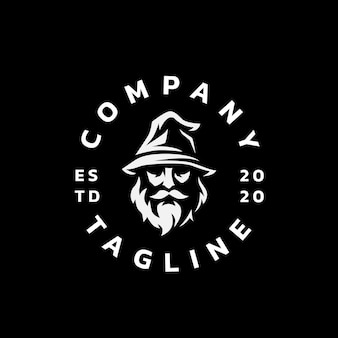 Desenho do logotipo da silhueta do mago