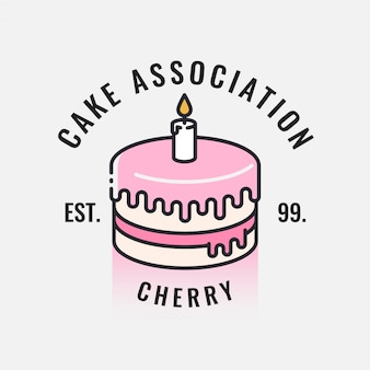 Desenho do logotipo do bolo