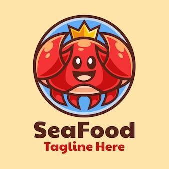 Desenho do logotipo do caranguejo do mar