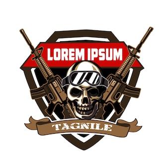 Desenho do logotipo do exército do crânio