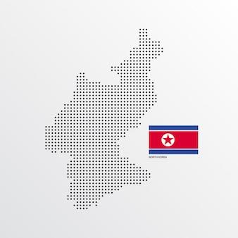 Desenho do mapa da coreia do norte
