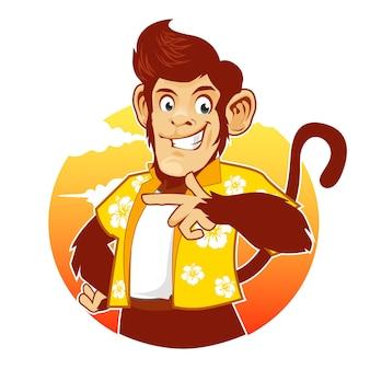 Desenho do mascote do macaco