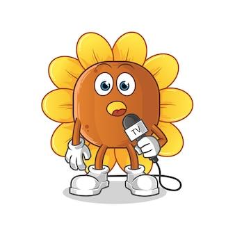 Desenho do repórter sun flower tv