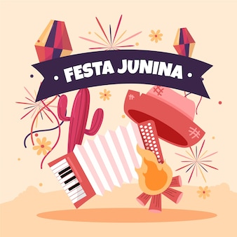 Desenho do tema festa junina