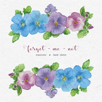 Desenho esquece-me não flores