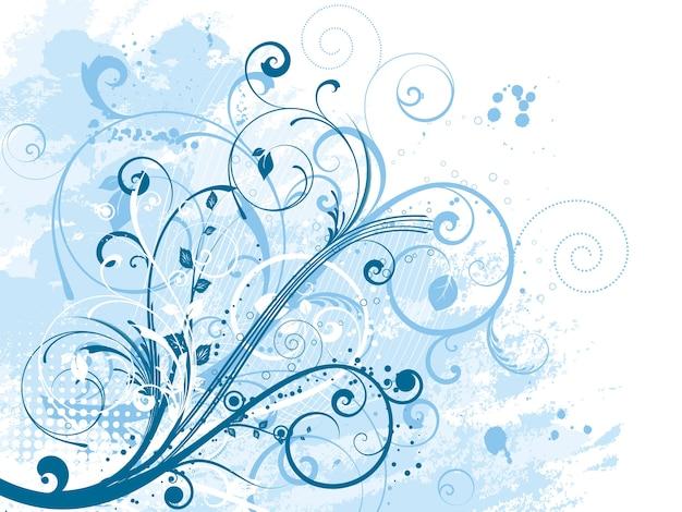 Desenho floral abstrato em fundo grunge