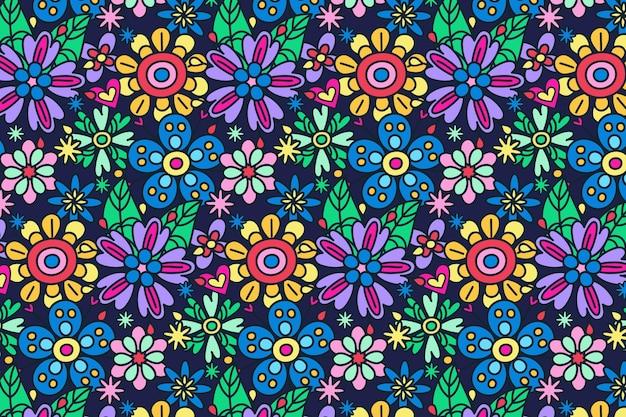 Desenho floral descolado