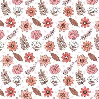Desenho floral em tons de pêssego Vetor grátis