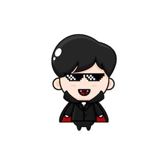 Desenho fofo vampiro chib