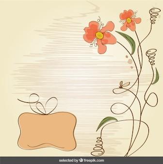 Desenho fundo floral
