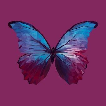 Desenho geométrico de borboleta