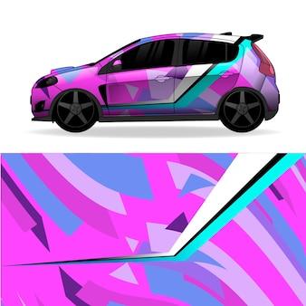 Desenho geométrico de envoltório de carro