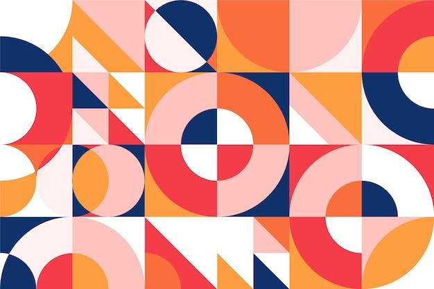Desenho geométrico de papel de parede mural