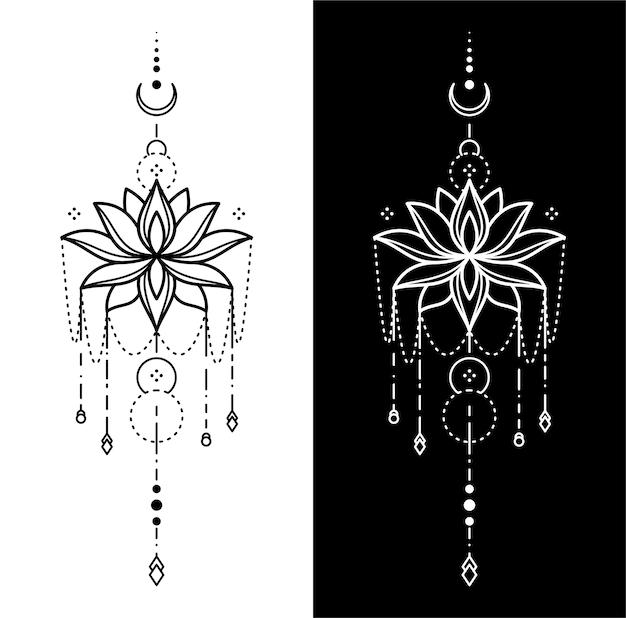 Desenho geométrico de tatuagem
