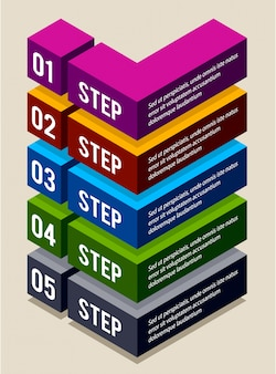 Desenho infográfico com etapas