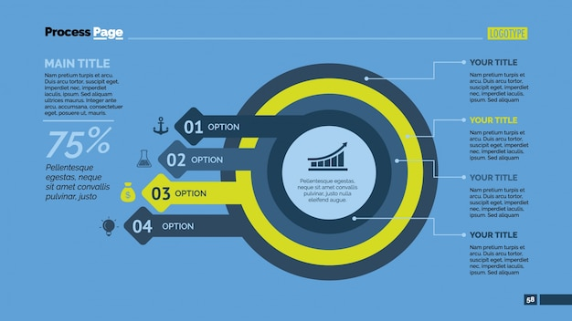 Desenho infográfico de círculos e setas