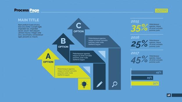 Desenho infográfico de estatísticas e flechas