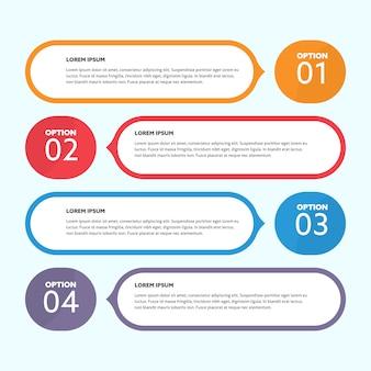 Desenho infográfico de fala de bolhas