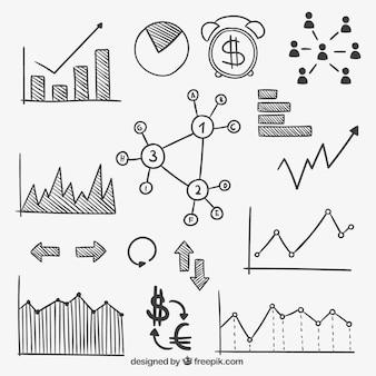 Desenho infográfico finanças