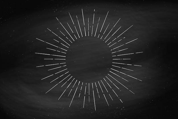 Desenho linear de raios de luz