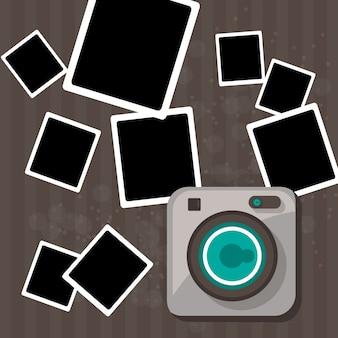 Desenho livre câmera polaroid