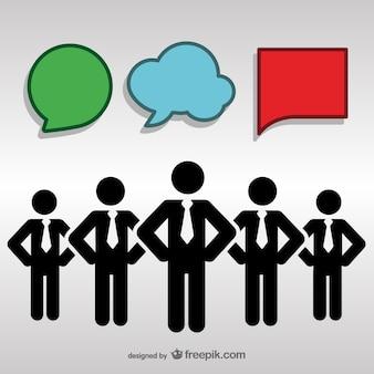 Desenho livre pessoas comunicação