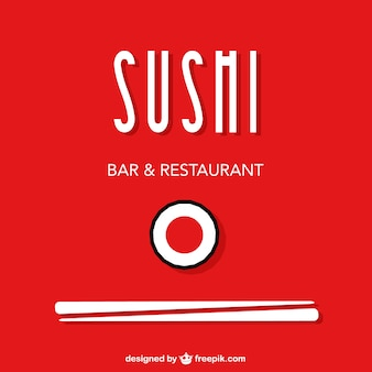 Desenho livre sushi vetor