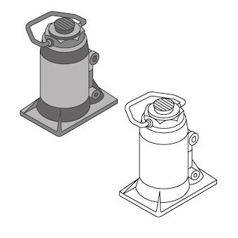 Desenho mecânico, ilustração vetorial