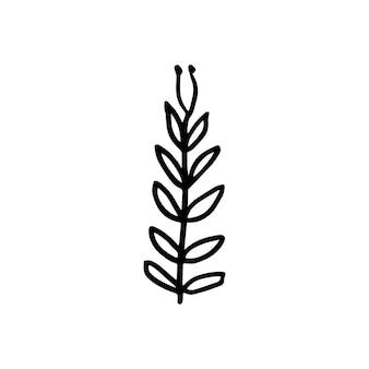 Desenho nórdico de árvore em estilo escandinavo moderno em vetor