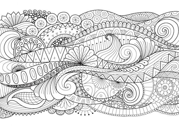 Desenho ornamental desenhado mão