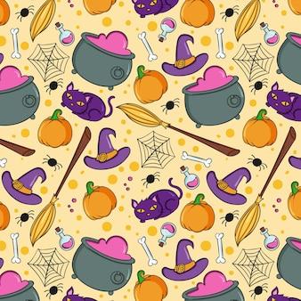 Desenho padrão de halloween