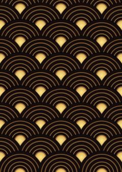 Desenho padrão ouro japonês