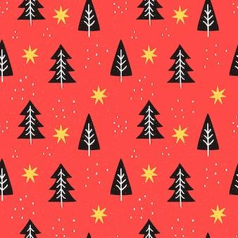 Desenho padrão vermelho de natal
