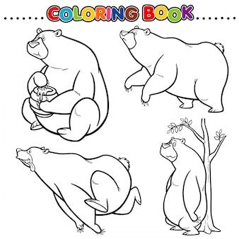 Desenho para colorir livro - urso
