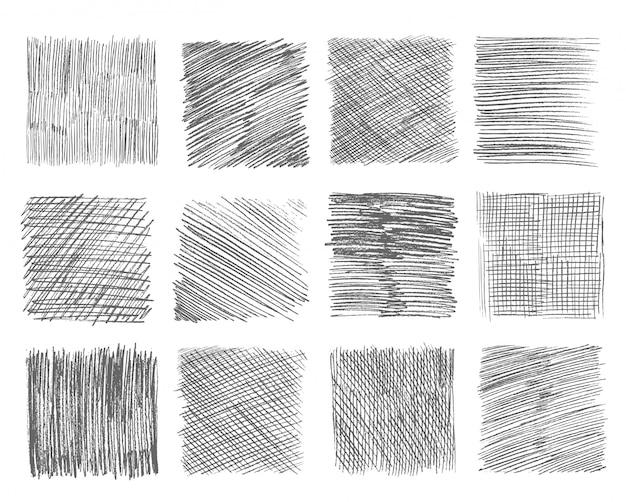 Desenho para incubação. caneta doodle traços de linha à mão livre giz rabisco esboço de linha preta