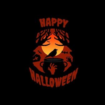 Desenho plano de fundo de halloween