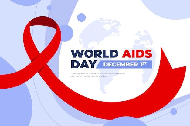 Desenho plano de fundo do dia mundial da aids