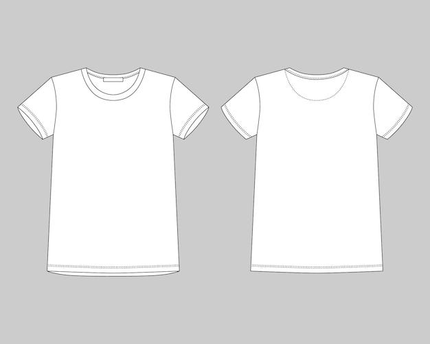 Desenho técnico camiseta unissex em fundo cinza