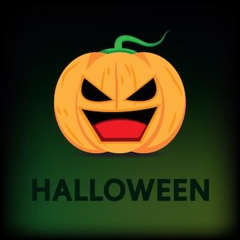 Desenho vetorial de abóbora de halloween.