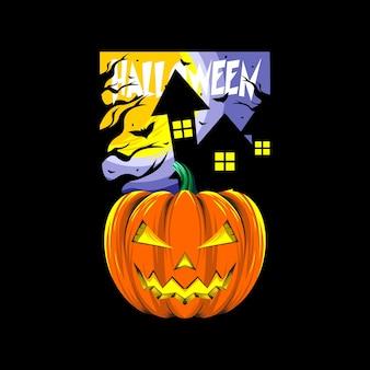 Desenho vetorial de abóbora para o dia de halloween