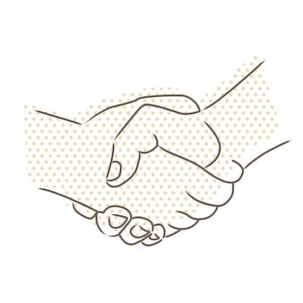 Desenho vetorial de aperto de mão
