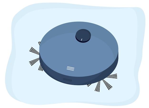 Desenho vetorial de aspirador de pó de robô. tecnologia inteligente