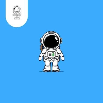 Desenho vetorial de astronautauso perfeito para o ícone de design de padrão da web ui ux etc.