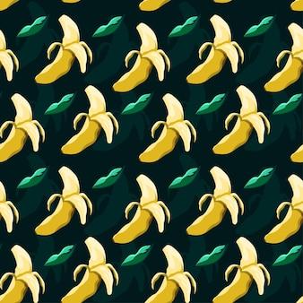 Desenho vetorial de banana padrão sem emenda