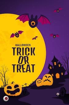 Desenho vetorial de banner de halloween
