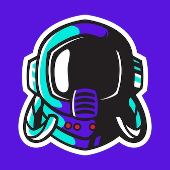 Desenho vetorial de capacete de astronauta